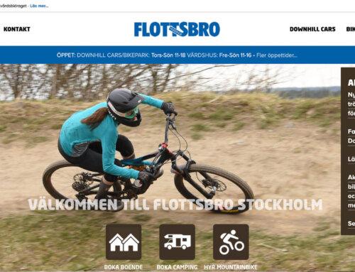 Redesignad webbplats för Flottsbro